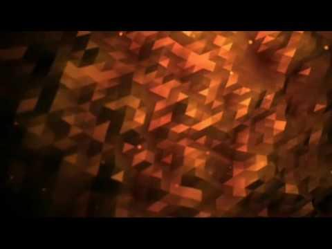 Fractal Flood Golden Orange Background Motion Video Loops HD