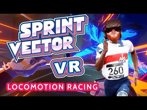 Sprint Vector gameplay - VR racing with innovative locomotion
