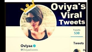 Oviya's Latest Viral tweet | Oviya will come live for her fans after Bigg Boss ends|For Oviya's fans