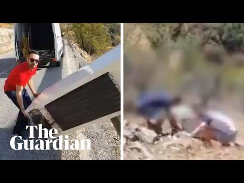 Spanish police order man who threw fridge off cliff to drag it back up