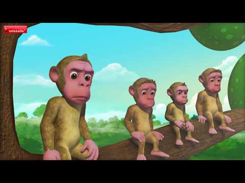 The Cap Seller and the Monkey | Bengali Moral Stories for Kids | Infobells