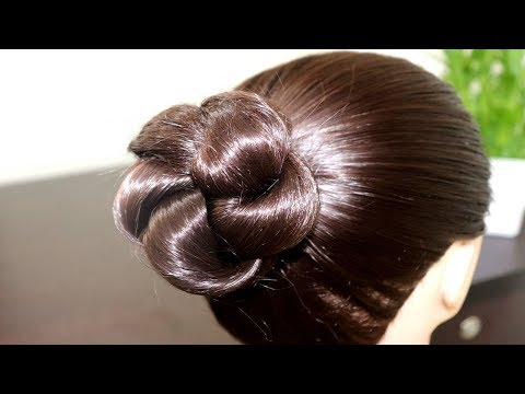 Simple & Easy Bun Hairstyle for Beginners || Party Hairstyle for Medium/Long Hair || KGS Hairstyles
