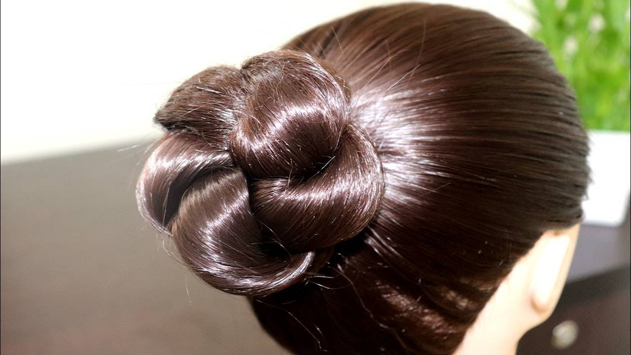 Simple Amp Easy Bun Hairstyle For Beginners Party