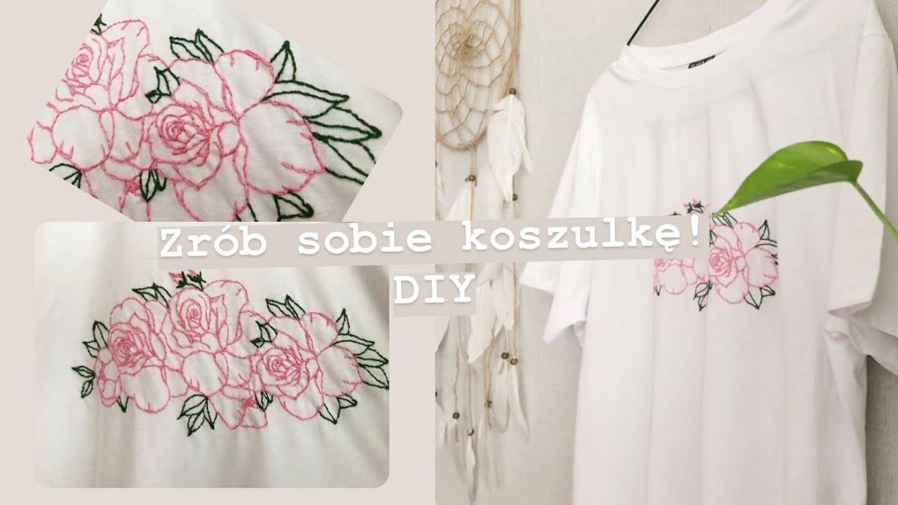 Zrób sobie koszulkę!  DIY embroidery t shirt  /  koszulka w kwiaty, haftowanie [anna koper]