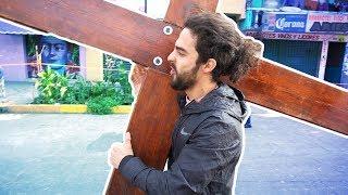 SER JESUCRISTO en la crucifixión más grande DEL MUNDO / Tradición de IZTAPALAPA
