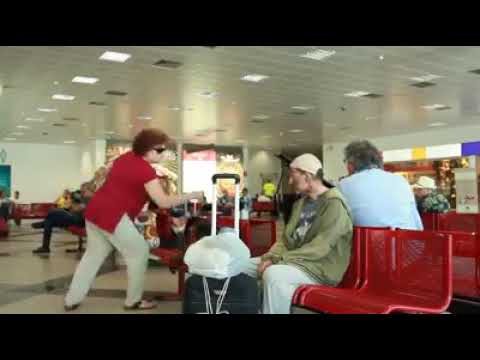 homeless man impresses everyone in the airport! Look what he does