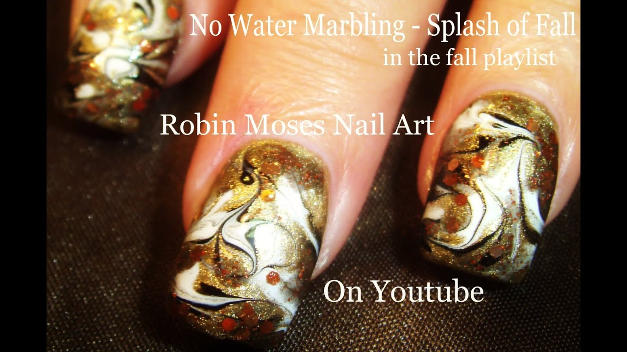 No Water Needed - Marble Fall FAIL Nail Art Tutorial - YouTube