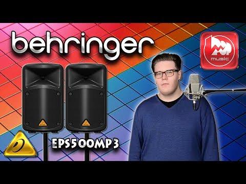 BEHRINGER EPS500MP3 - доступный комплект из двух колонок с микшером