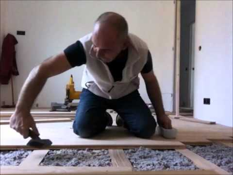 pose parquet clou massif 23 mm youtube. Black Bedroom Furniture Sets. Home Design Ideas