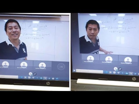 Students Hilarious Interactive With Online Lecturer