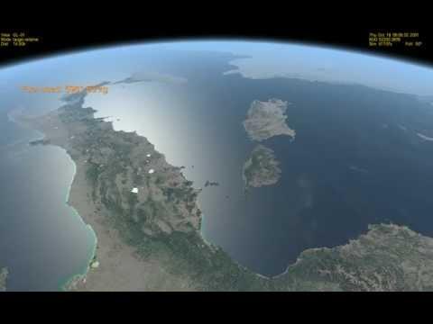 Orbiter l' Italia vista dallo spazio da 400 Km di altezza