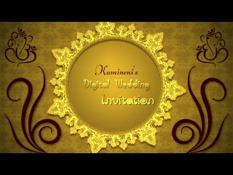 digital wedding invitation by pink7 digital filmer YouTube