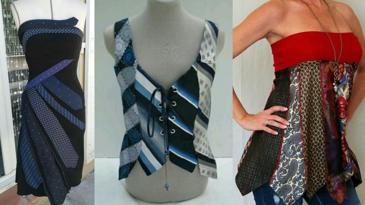 nuovo concetto nuova versione migliore online Tanti modi di riciclare CRAVATTE - Tie dress diy - REFASHION