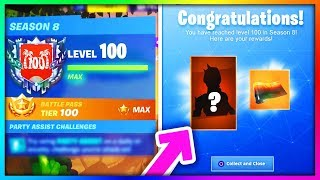 C'EST QUAND VOUS REACH LEVEL 100 en SEASON 8. (Secret LVL 100 Récompenses Unlocked Fortnite)