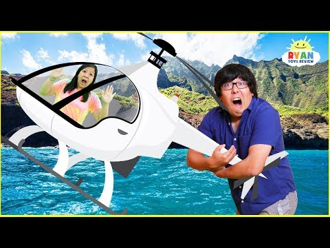 First Helicopter Ride and  Luau with Ryan&39;s Family Review