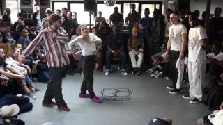 SONYA & WILL VS POPPIN C & NESS 1/16 FINALS POPPING : JUSTE DEBOUT PARIS 2016