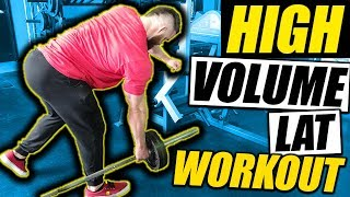 Lat Workout | Super High Volume With The Hypertrophy Coach