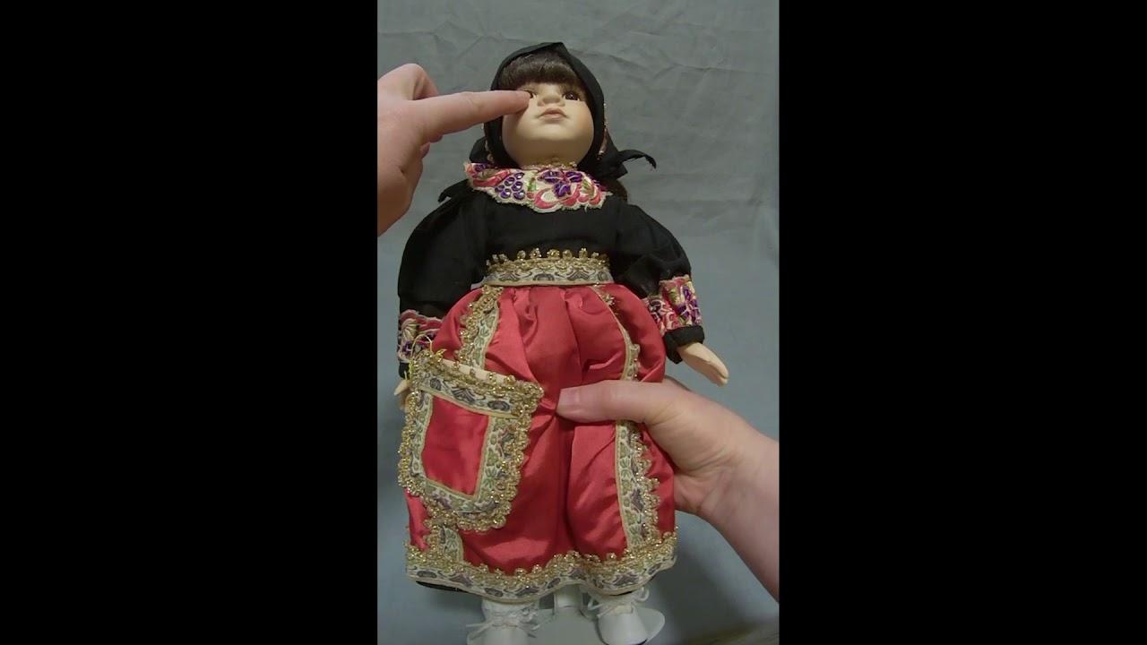 Кукла в национальном костюме 36 см - YouTube