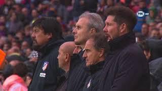 Barcellona-Atletico Madrid: Simeone commosso durante il minuto di silenzio per Astori