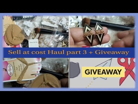 *Honest opinion* Sell at cost Haul part 3 I cheapest Haul under 100 rs. l Giveaway