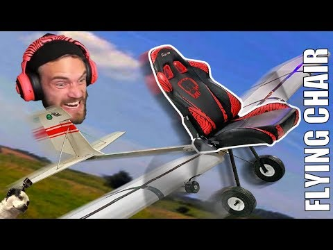 FLYING gaming chair!!! (really heavy)
