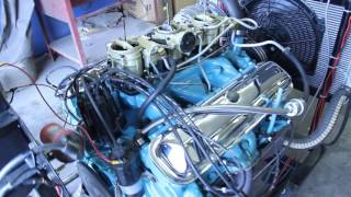 DCI Motorsports 1965 GTO 389 Tripower mildly warmed over 9.5-1 compression pump gas.