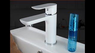 видео обзор - Белый смеситель GAPPO G1048 для раковины