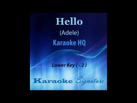 Hello Adele Karaoke  (Lower key)  by Karaoke Signature (Full Version)