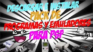 Descargar Pack De Emuladores y Programas Para PSP | 1 LINK | MEDIAFIRE