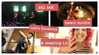 Meeting Liz from MS MR,  Jack Garratt, and beach bonfires with Justin Escalona | College Weekly Vlog