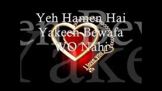 Inteha Hogayi Intezar ki Lyrics.. Ahmer Islam