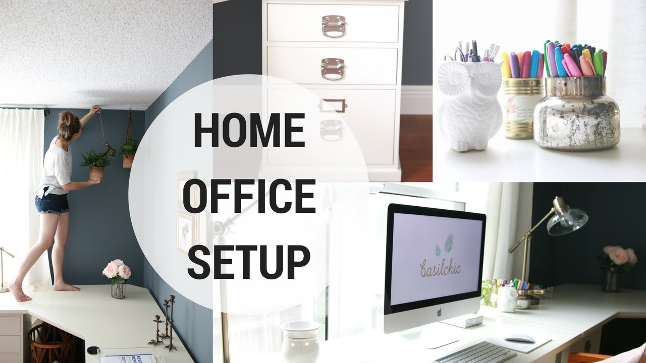 HOME OFFICE SETUP! (Part 1 of 4 in office Organization Series) - YouTube