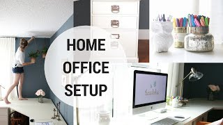 HOME OFFICE SETUP! (Part 1 of 4 in office Organization Series)