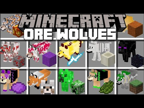 Minecraft ORE WOLF MOD / FIGHT OFF EVIL WOLVES AND SURVIVE THE NIGHT !! Minecraft