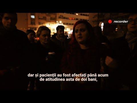 Protestul tinerilor medici care n-au plecat încă din România