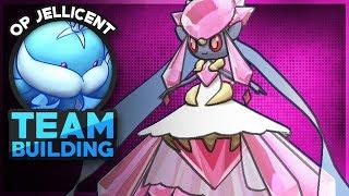 Mega Diancie Team Builder! Pokemon Showdown OU Team Building W/OPJellicent (Smogon Sun and Moon)