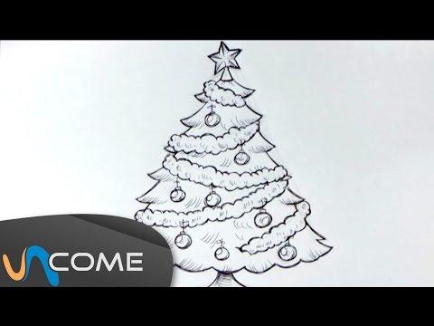 Come Disegnare Un Albero Di Natale Facilmente Youtube