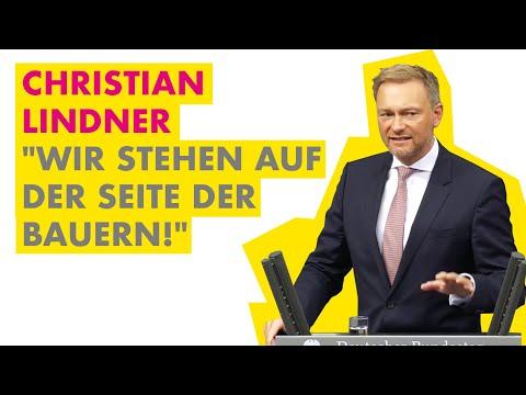 """Christian Lindner: """"Wir Stehen Auf Der Seite Der Bauern!"""""""