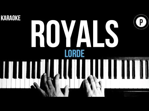 Lorde - Royals Karaoke SLOWER Acoustic Piano Instrumental Cover Lyrics