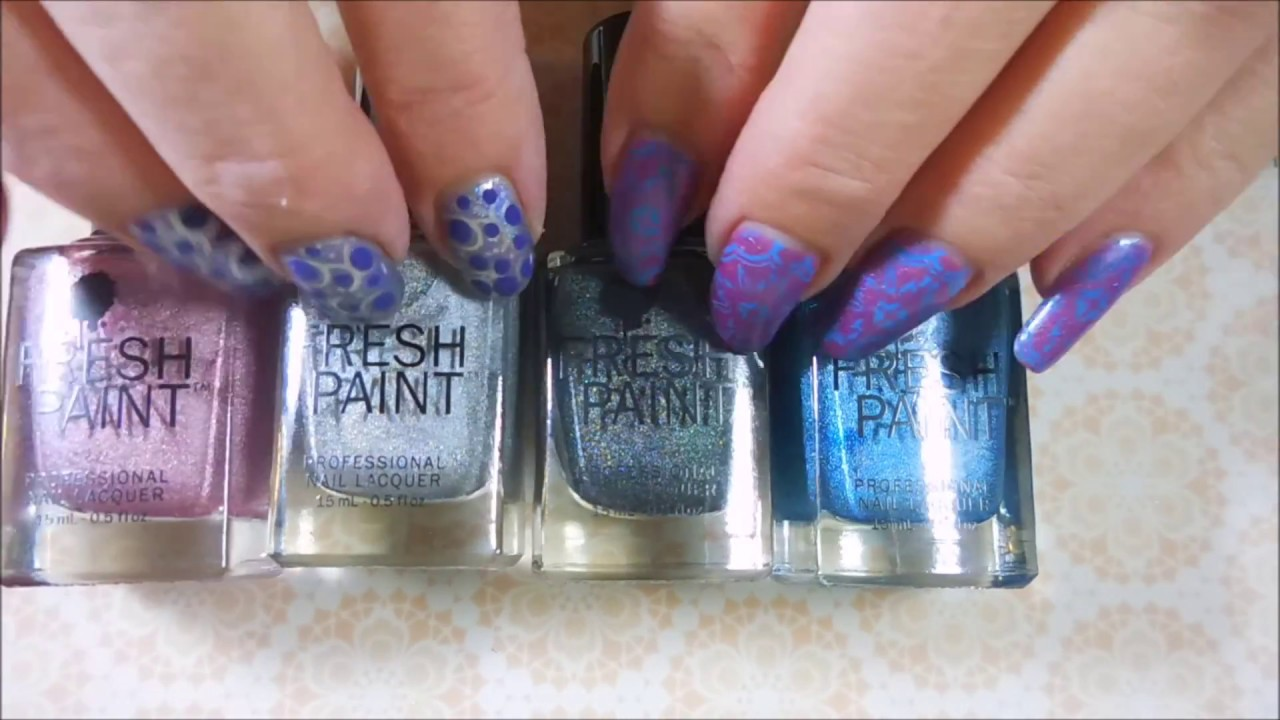 Fresh Paints VS Color Club Holographic Polishes - YouTube