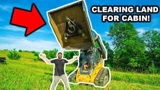 CLEARING LAND in My BACKYARD for a NEW OFF-GRID CABIN!!!