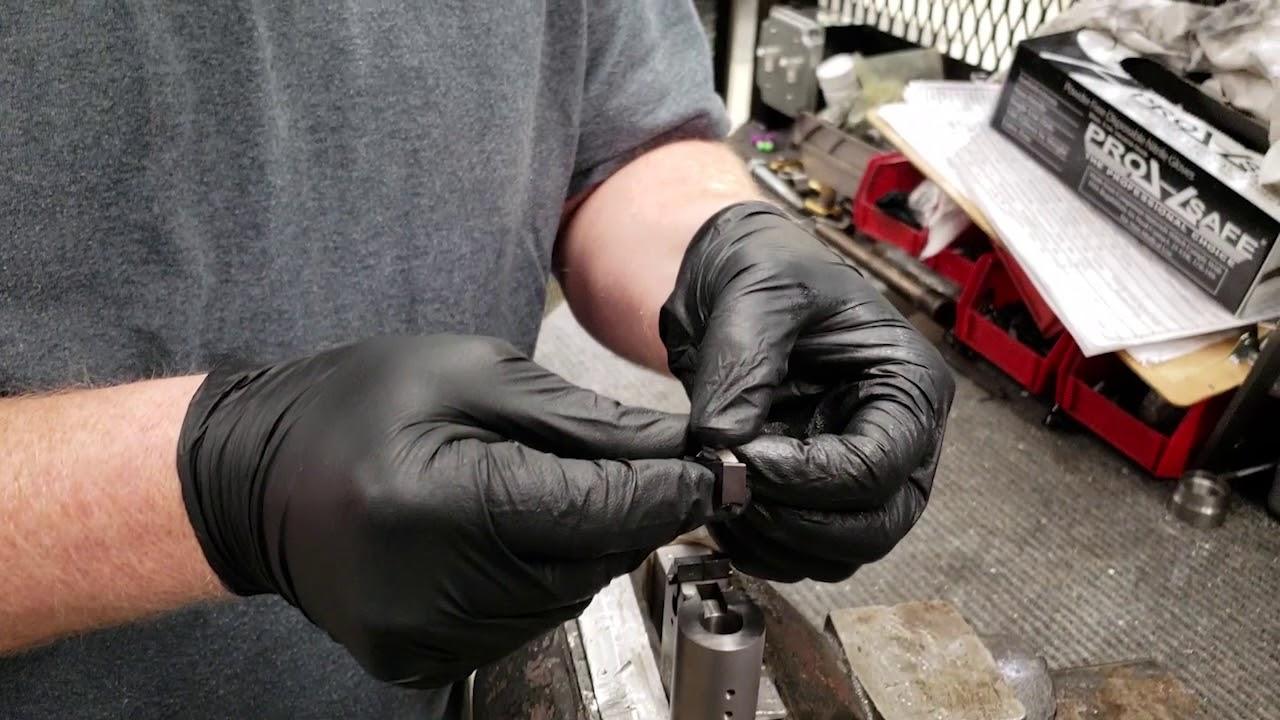 Remove Extractor on Thompson Center Encore Contender Gun Barrel