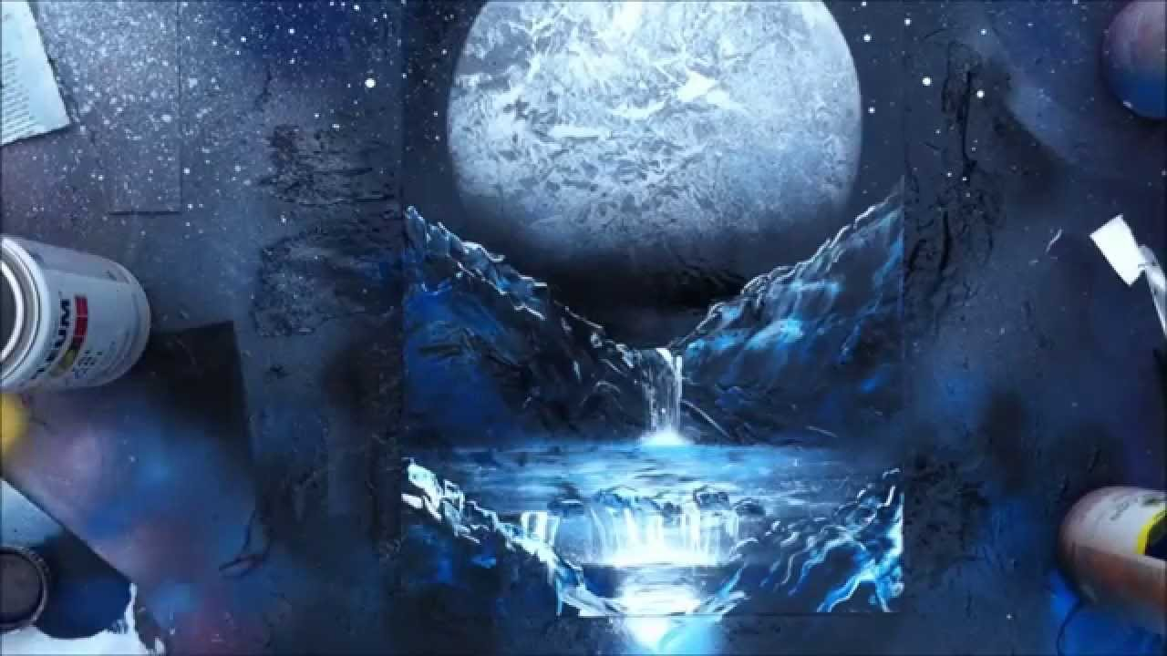 SPRAY PAINT: Moon - YouTube