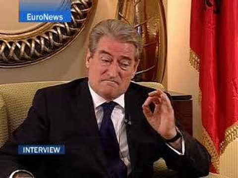 EuroNews - Interview - Sali Berisha, Albania's PM - No comment