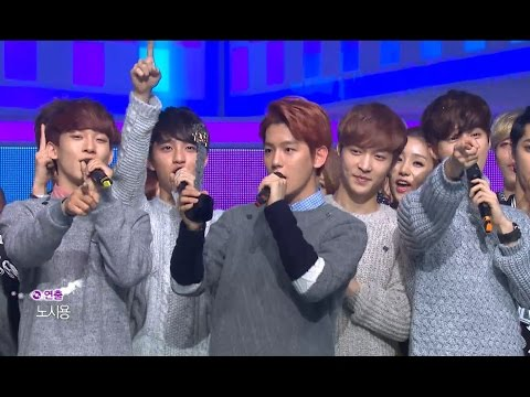 【TVPP】EXO - Winner of week song 'Miracle in December', 엑소 - 12월의 기적 음중 1위!! @ Show! Music Core Live
