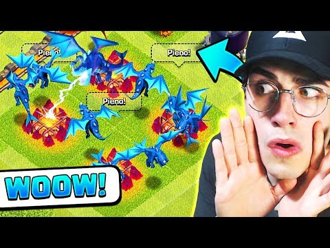 *wow* ATTACCO con FULL DRAGHI ELETTRICI! Clash of Clans