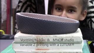 MNOK & VormVrij® | 3D non planar 3d clay printing