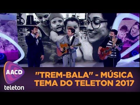 """Ana Vilela Daniel e Padre Fábio de Melo cantam """"Trem-Bala"""" música tema do Teleton"""