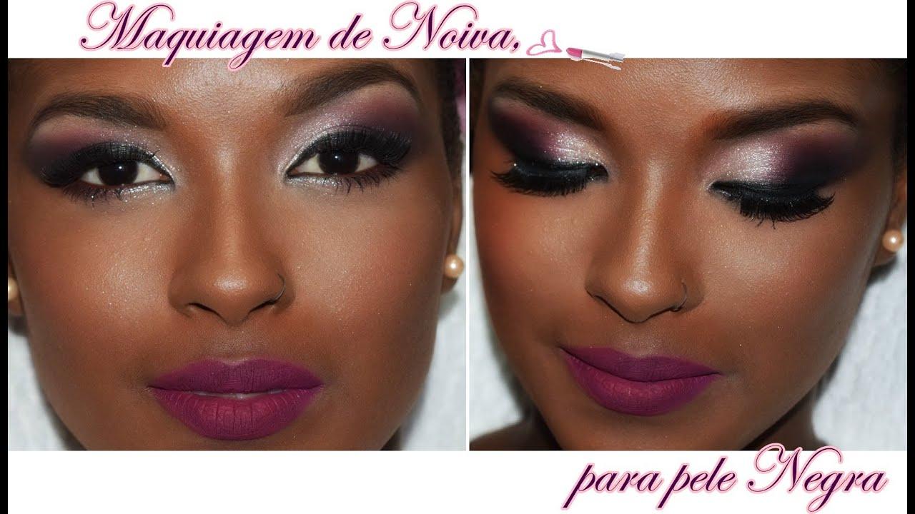 Favoritos Maquiagem de noiva para pele negra - YouTube MU88