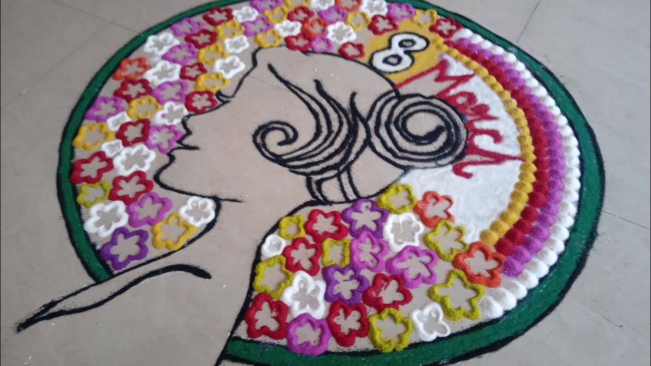 Women S Day Special Rangoli Designs Women S Day Rangoli Theme Women S Day Celebration Rangoli Youtube Indian republic day flower decoration! women s day special rangoli designs women s day rangoli theme women s day celebration rangoli
